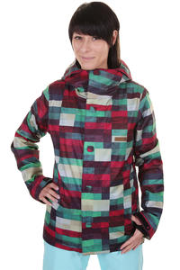 DC Data Snowboard Jacke girls (brick plaid multi purple)