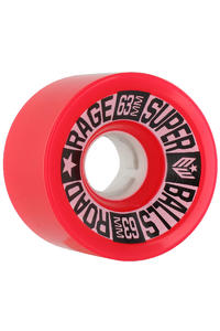 Earthwing Road Rage 63mm 78a Rollen 4er Pack  (red)