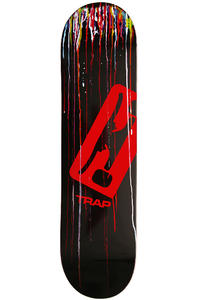 "Trap Skateboards Hand Made 7.875"" Deck (black multi)"