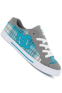 DC Chelsea Shoe girls (light grey turquoise)