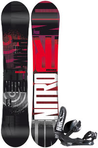 Nitro Prime Dose Zero 159cm Wide / Raiden Staxx L Snowboardset 2012/13