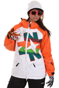 Nikita Okmok Snowboard Jacke girls (white ocean)