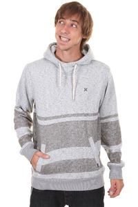Hurley Retreat Stripe Hoodie (heather ash grey)