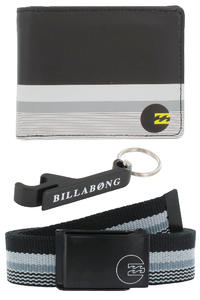 Billabong Deluxe Geschenkbox Grtel + Geldbeutel + Schlsselanhnger  (black)