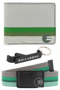 Billabong Deluxe Geschenkbox Grtel + Geldbeutel + Schlsselanhnger  (green)