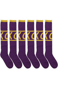 Cleptomanicx Tube Socken 3er Pack US 10-12  (purple)