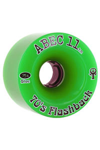 ABEC 11 Flashbacks 70mm 75a Rollen 4er Pack  (green)