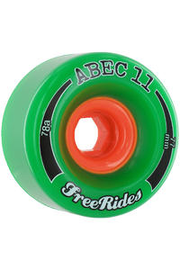 ABEC 11 Classic Freeride 77mm 78a Wheel 4er Pack  (green)