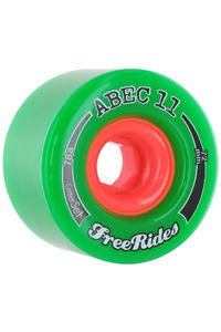 ABEC 11 Centerset Freeride 72mm 78a Wheel 4er Pack  (green)