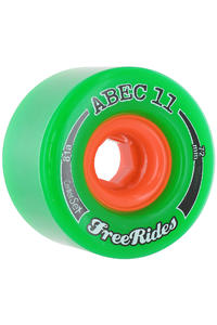 ABEC 11 Centerset Freeride 72mm 81a Wheel 4er Pack  (green)