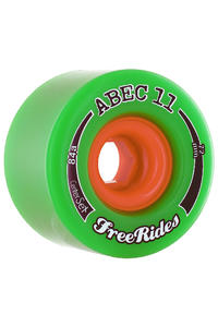 ABEC 11 Centerset Freeride 72mm 84a Rollen 4er Pack  (green)