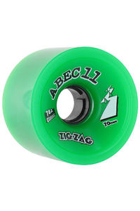 ABEC 11 Zig Zags Classic 70mm 78a Wheel 4er Pack  (green)