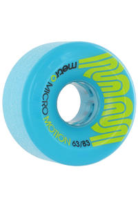 Metro Wheels Micro Motion 63mm 83a Rollen 4er Pack  (blue)