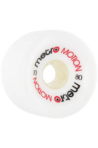 Metro Wheels Motion 70mm 80a Rollen 4er Pack  (white)