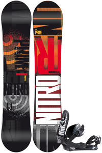 Nitro Prime Dose Zero 156cm Wide / Raiden Staxx L Snowboardset