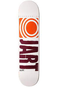 "Jart Skateboards Logo Basic SU12 7.3"" Deck (white orange)"