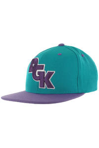 DGK Skateboards Stagger Snapback Cap (teal purple)