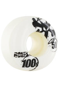 Bones 100&#039;s-OG #12 51mm Rollen 4er Pack  (white)