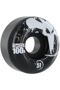 Bones 100's-OG #12 51mm Rollen 4er Pack  (black)
