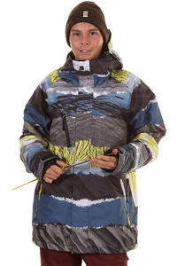 Quiksilver Travis Hydro Stripes Snowboard Jacket insulated  (travis stripe)