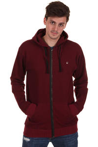 Fallen Sanction Zip-Hoodie (speckle burgundy)