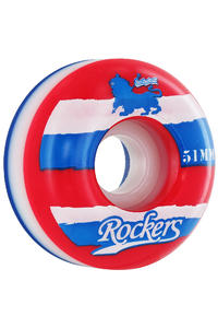 Rockers Ripped Tricolor 51mm Rollen 4er Pack  (red white blue)