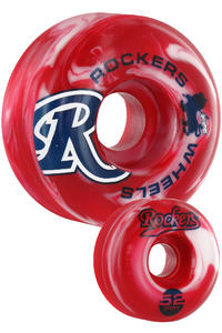 Rockers Flurry 52mm Rollen 4er Pack  (red white)