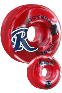 Rockers Flurry 53mm Rollen 4er Pack  (red white)