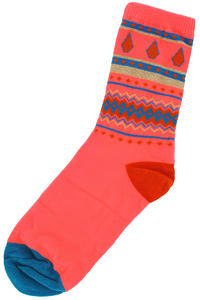 Volcom Jingle Ball Socks US 7 W - 11 W  girls (orange red)