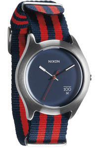 Nixon The Quad Uhr (navy red nylon)