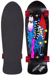 "Santa Cruz Slasher Black N Blue 10"" x 31"" Cruiser"
