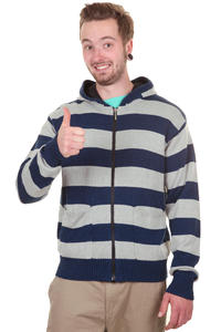 Nixon Shelby Zip-Hoodie (navy stripe)