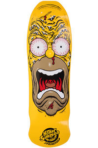 "Santa Cruz x The Simpsons Homer Face 9.5"" Deck (yellow)"