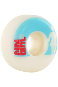 Girl Big Girl Real Big 52mm Wheel 4er Pack  (blue white)