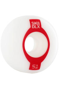 SK8DLX Oval Series 51mm Wheel 4er Pack  (red)