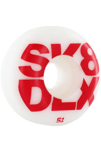 SK8DLX Block Series 51mm Rollen 4er Pack  (red)