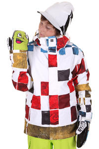 Quiksilver Next Mission Printed Snowboard Jacke kids (snow tomato)