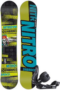 Nitro Ripper Zero 132cm / Raiden Charger S Snowboardset kids