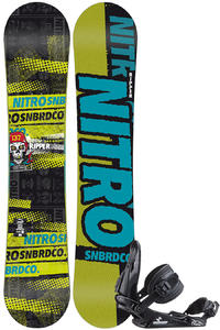 Nitro Ripper Zero 137cm / Raiden Charger S Snowboardset kids
