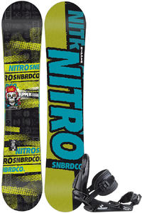 Nitro Ripper Zero 146cm / Raiden Charger M Snowboardset kids