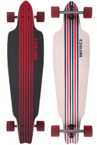 Globe Prowler 38&quot; (96,5cm) Complete-Longboard (white blue red)