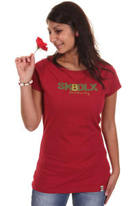SK8DLX Logo Skateboarding T-Shirt girls (rio red)