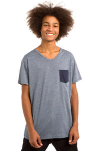 Iriedaily V-Pocket Ringel T-Shirt (navy)