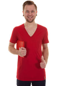 Iriedaily V-Pocket T-Shirt (dark red)