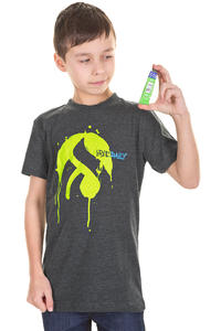 Iriedaily Splatter Glyph T-Shirt kids (anthracite melange)