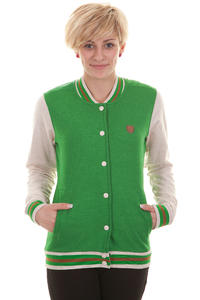 Iriedaily Baseball Trainer Jacket girls (green melange)