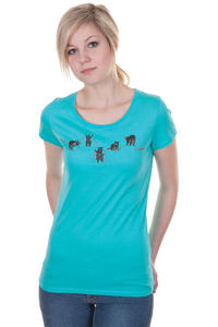 Iriedaily Coon T-Shirt girls (hawaii blue)