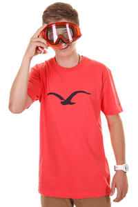 Cleptomanicx Möwe T-Shirt (hot coral)