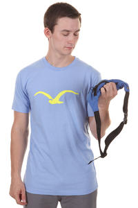 Cleptomanicx Möwe T-Shirt (heather bank blue)