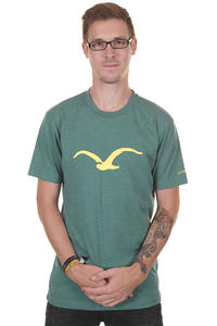 Cleptomanicx Möwe T-Shirt (heather spruce green)